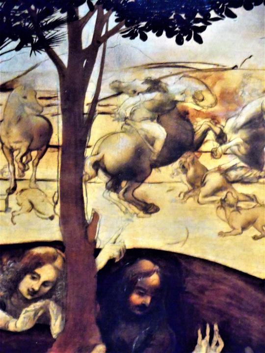 Adorazione dei Magi di Leonardo da Vinci aa Uffizi soloalsecondogrado