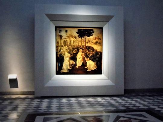 Adorazione dei Magi di Leonardo da Vinci r Uffizi soloalsecondogrado