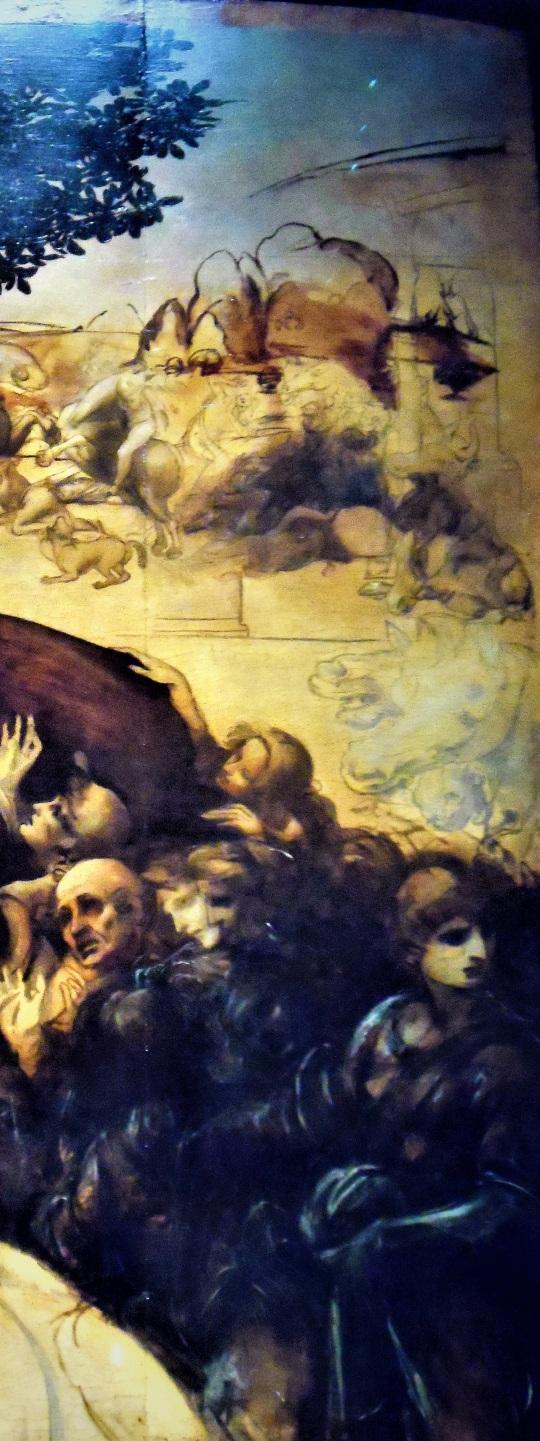 Adorazione dei Magi di Leonardo da Vinci y Uffizi soloalsecondogrado