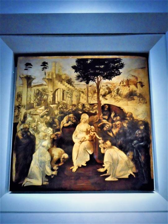 Adorazione dei Magi di Leonardo da Vinci z Uffizi soloalsecondogrado