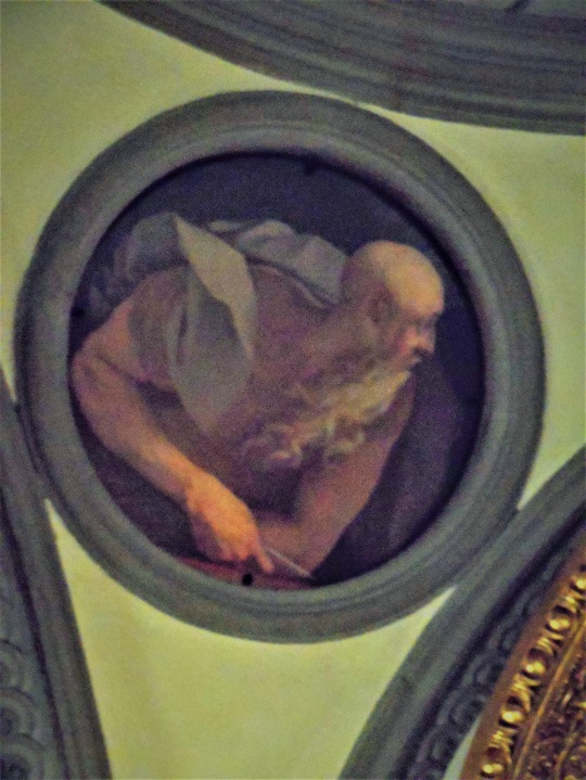 Jacopo Carucci alias Pontormo i quattro evangeslisti affresco primo chiesa di santa Felicita Firenze soloalsecondogrado