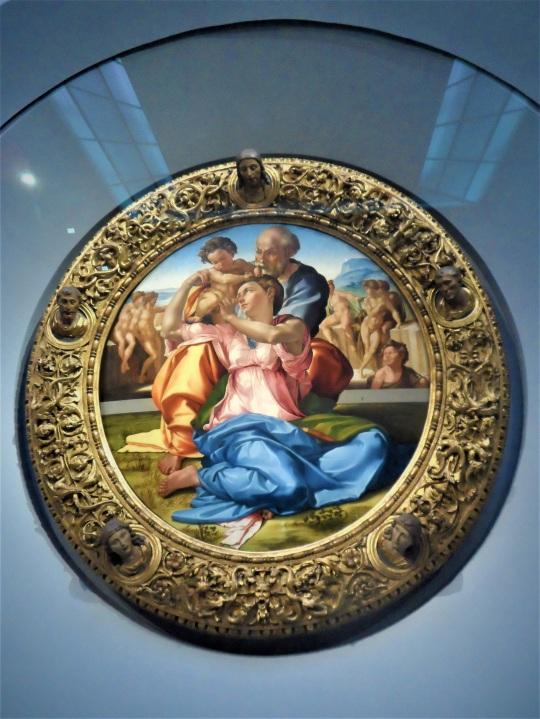 Michelangelo Buonarroti Sacra Famiglia con San Giovannino alias Tondo Doni c soloalsecondogrado