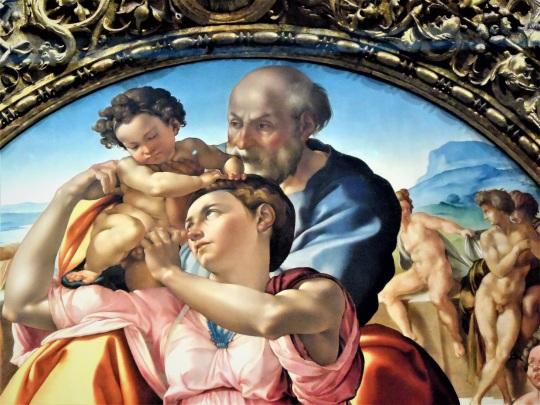 Michelangelo Buonarroti Sacra Famiglia con San Giovannino alias Tondo Doni d soloalsecondogrado