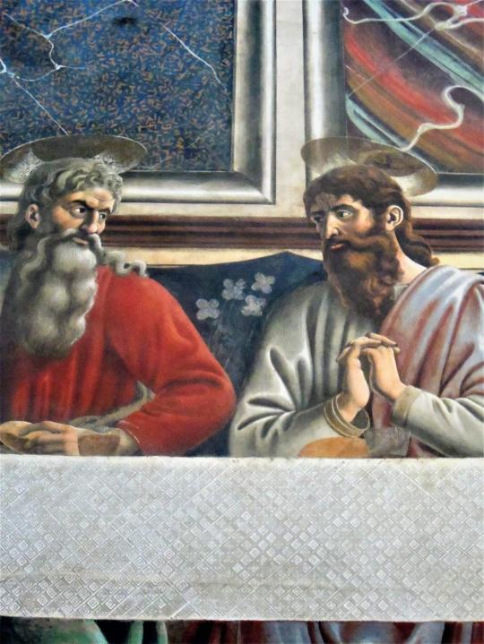 Andrea del Castagno alias Andrea di Bartolo Cenacolo Museo di Sant Apollonia Firenze m soloalsecondogrado
